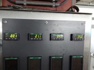 Termômetro  indicando 35,3°C na Brasserie Dupont (Foto do beervana.blogspot.com)